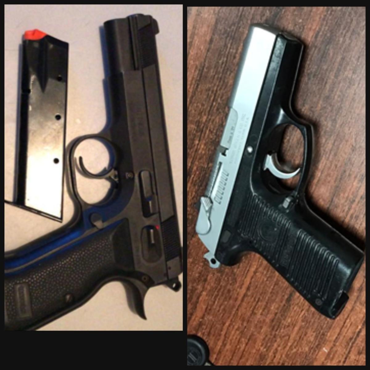 DICRIM apresa a tres sujetos tras ocuparle dos pistolas sindocumentos